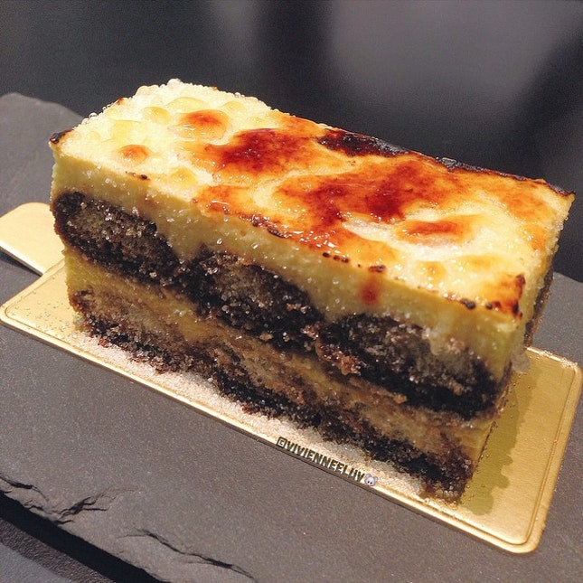 "A slice of [CREME BRÛLÉE TIRAMISU] treat from the ""bro""!"