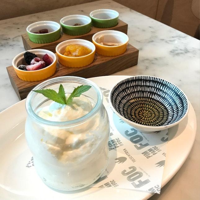 Light Yogurt With Three Toppings