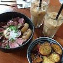 Yuzu Soy Glazed Sweet Potato & Suki Beef Roce Bowl