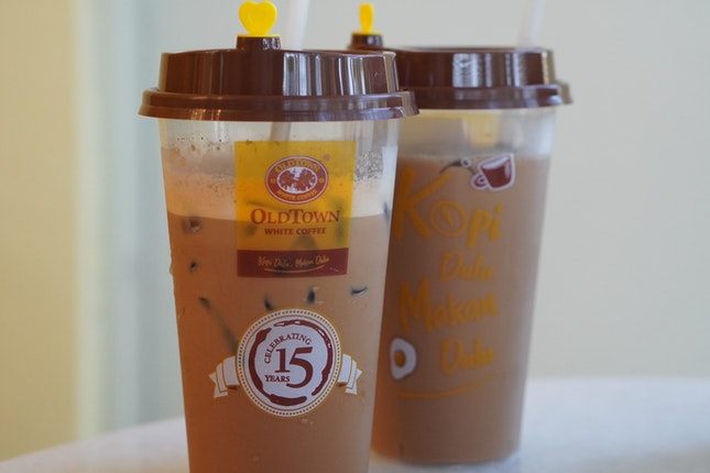 Teh bing and Iced Hazelnut Coffee
