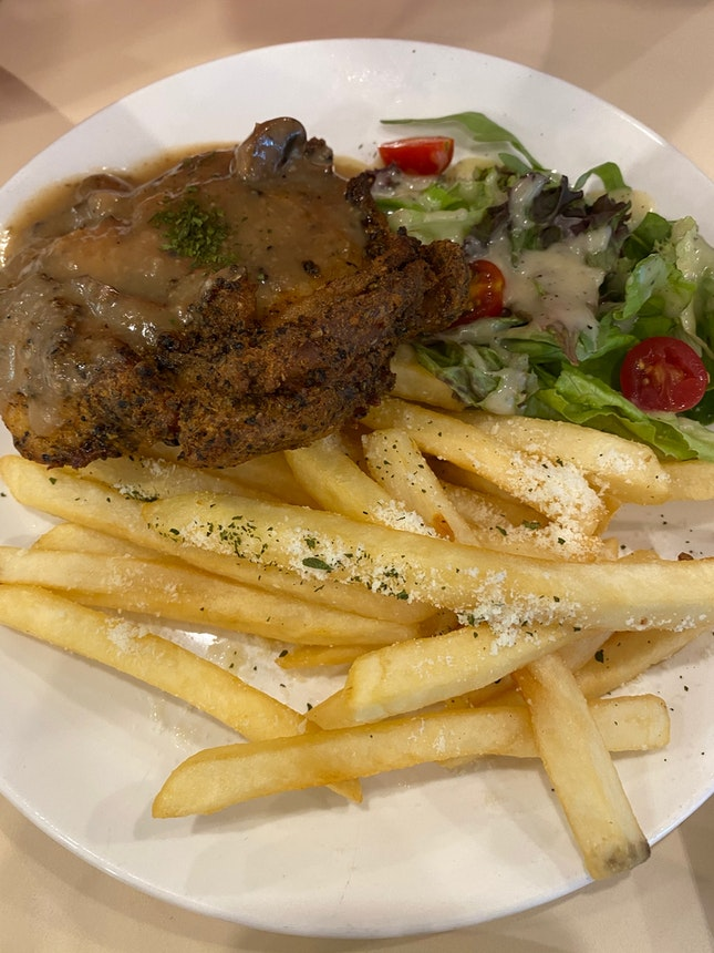 Oven-baked Chicken With Truffle Sauce