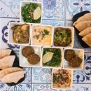 Big Dipper Set With Falafel, Hummus, Tabbouleh & Babaganoush