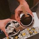 Dark Chocolate and Oreo Gelato
