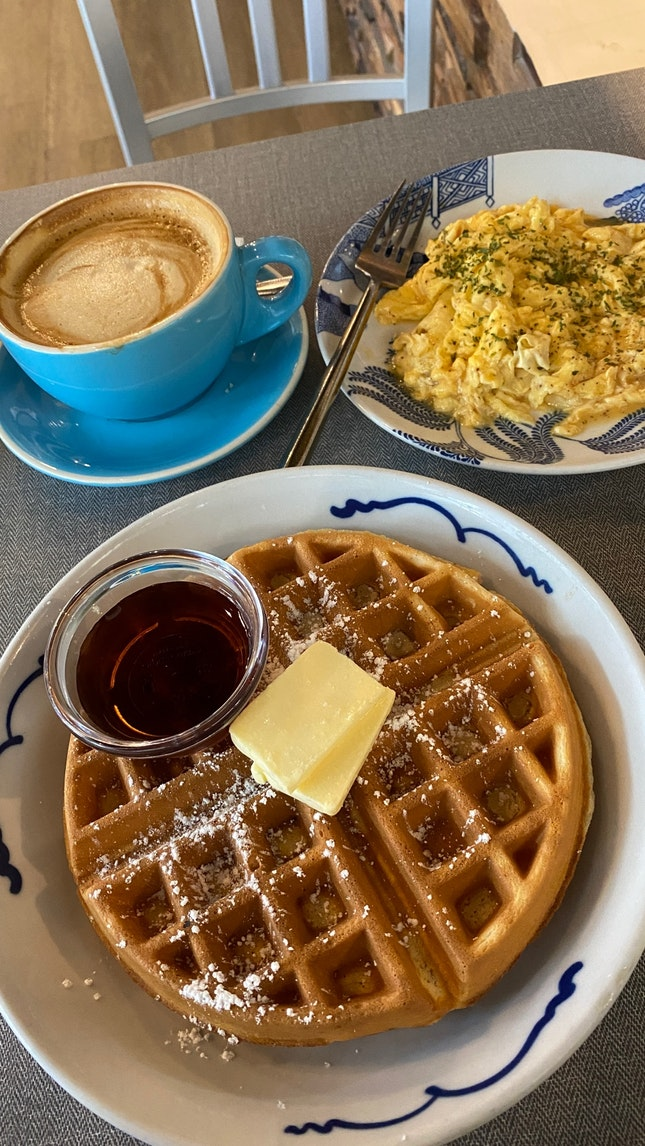 Love The Waffles And Eggs!