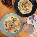 Carbonara & Smoked Salmon Pastas
