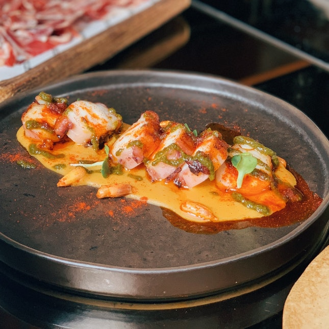 grilled spanish octopus — good stuff