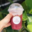 super refreshing tea mocktail! 🍇