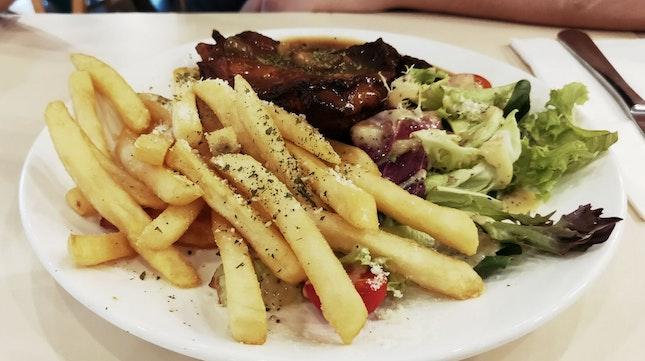 Chicken wih Truffle Fries