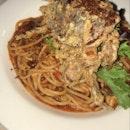chili crab spaghetti