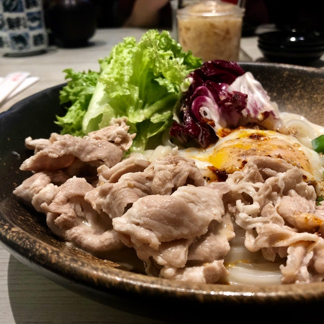Black Pork Udon (Cold)