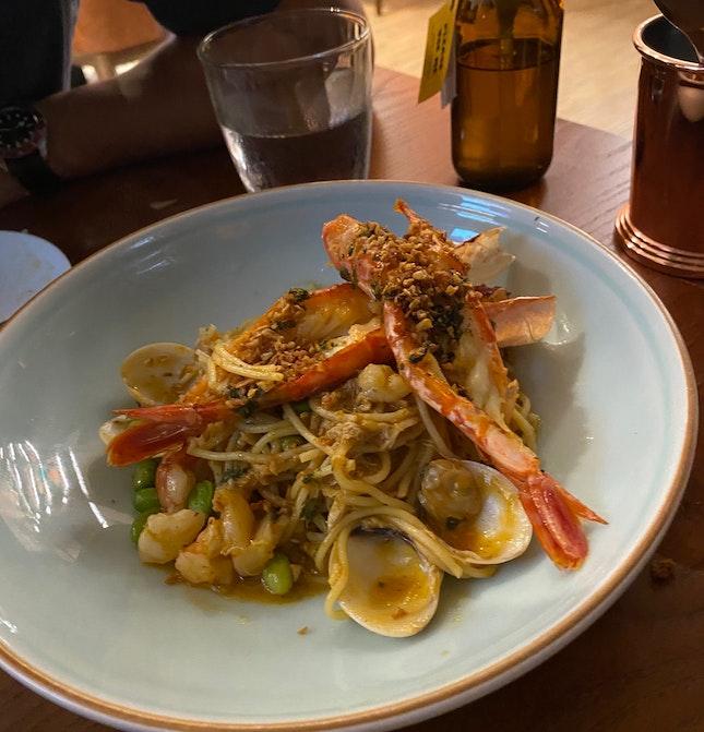 Argentinian Prawn Pasta & Arroz Con Pollo