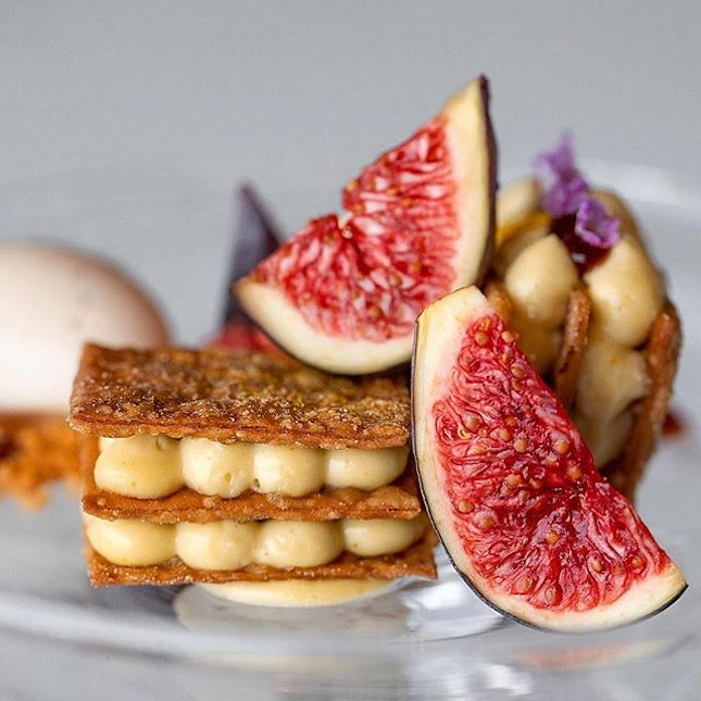 Mille feuille & Figs - JAAN, Singapore #missneverfull_sg #missneverfull_jaan