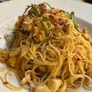 Spicy Crabmeat Capellini ($28)