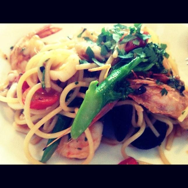 Seafood Spagedi