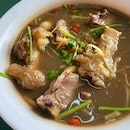 Chinese Herbal Mutton Soup for the cool day.