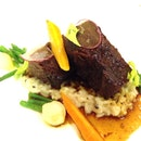 Braised Beef Short Ribs With Spring Vegetables And Risotto