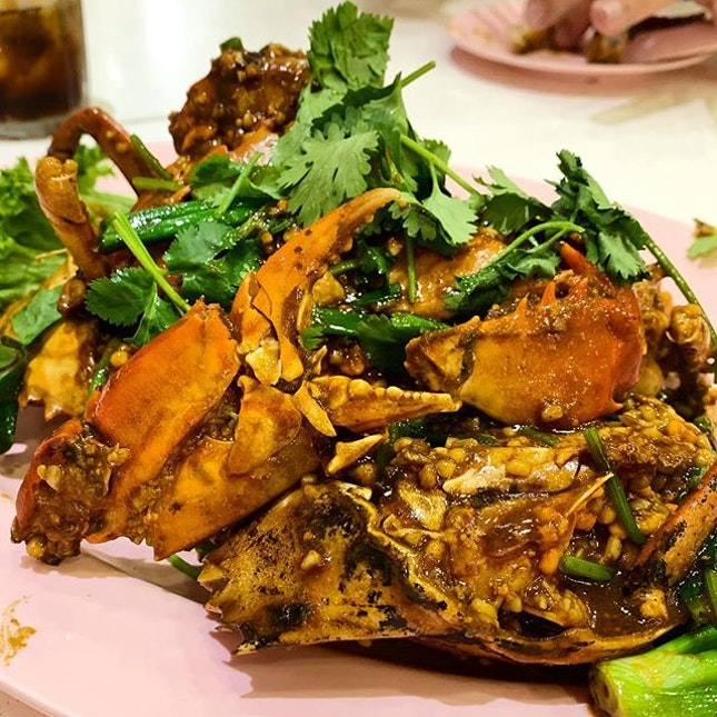 Black Pepper Crab  _ Ordered the smaller crabs so that we can have one crab each.
