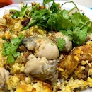 Oyster Omelette aka Orh Luak _ Teochew style oyster omelette, wet and gooey.