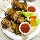Chicken Wings Yakitori style _ Interesting way to present the chicken wings, Yakitori style _ Still prefer the traditional charcoal grilled chicken wings.