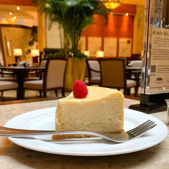 Cheese Cake $11++ _ Spending a lazy morning having coffee & cheese cake, away from the humidity & heat, in a cool lobby cafe.