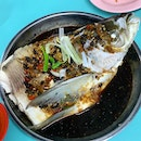 Steamed Fish head with Fermented Black Beans.