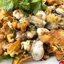 Oyster Omelette  _ Crispy, crunchy omelette.