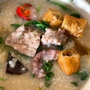 Mixed pork porridge.