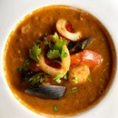 Mexican Cuisine from La Salsa @lasalsasingapore in Dempsey Hill @dempseyhillsg  _ Featuring: Chupe de Mariscos $16 A wholesome & satisfying Peruvian seafood bisque made with aji panca.