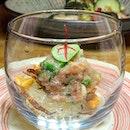 Another fun evening at Roketto Izakaya _ Bah Chor Mee Negitoro Tuna belly, Glass Noodles, Lard.