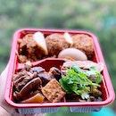日式鹵鴨、粿汁便当 Bento Combo Jumbo Set _ Pig's Offal, pig skin, small intestines, beancurd & Tofu.