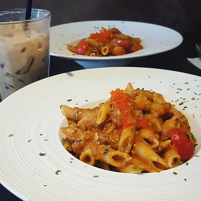 Had chilli crab pasta ($14.90) at this quaint HDB cafe joint.
