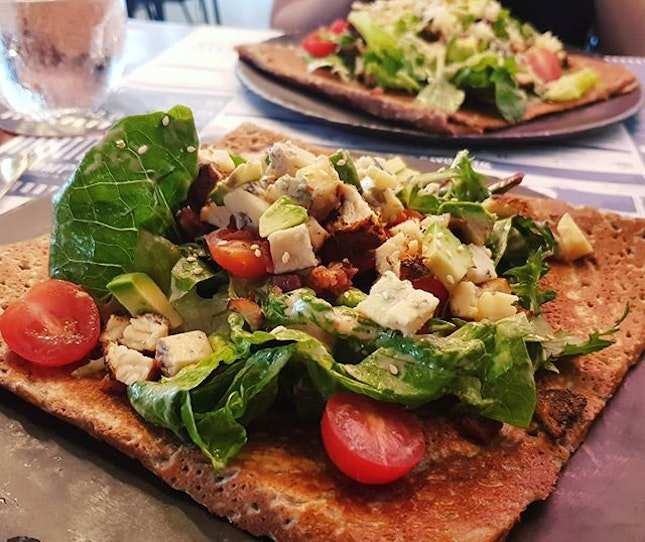Club Salad on a galette ($17++, before #entertainerapp).