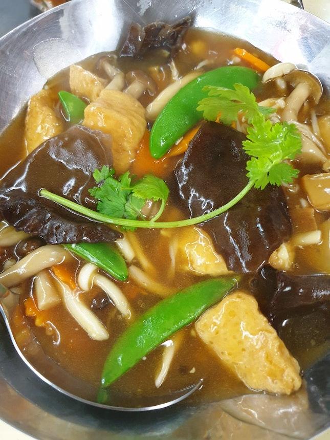 Three Mushroom Tofu $12