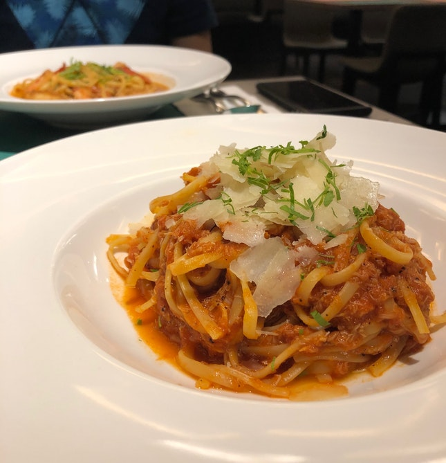Spicy Crabmeat Linguine