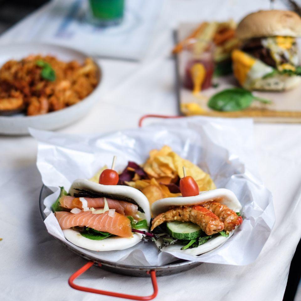 Salmon and Thai Shrimp Bao