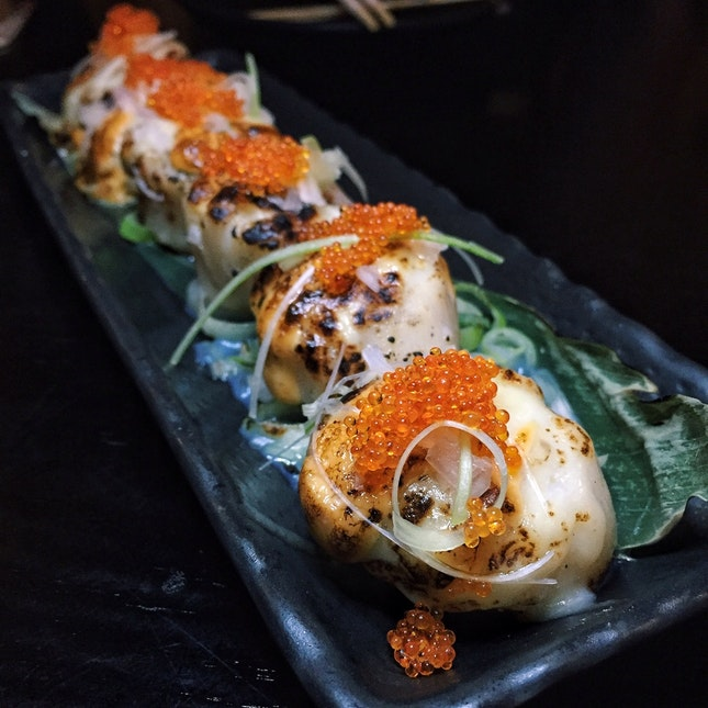 Grilled Scallops with Cheese ($6.80 each)