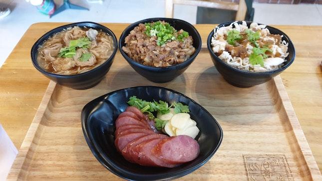 3 Bowls Set And Taiwanese Sausage