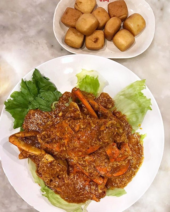 Ermaghad biggest crab 🦀 I've seen and definitely one of the nicest chili crab I've had in my life!