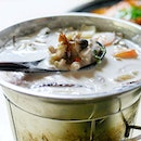 Thai-Style Coconut Soup w/ Chicken a.k.a Tom Kah Gai from Roy Thai Kitchen in Hougang.