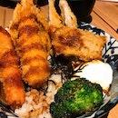 Seafood mix don at ImakatsuThis bowl of rice include Prawn, salmon, hokke fish, onsen egg, eggplant and broccoli 😋 ⠀⠀⠀⠀⠀⠀⠀⠀⠀⠀⠀⠀⠀⠀⠀⠀⠀⠀⠀⠀⠀⠀⠀⠀⠀⠀⠀⠀⠀⠀⠀⠀⠀⠀⠀⠀⠀⠀⠀⠀⠀⠀⠀⠀⠀⠀⠀⠀⠀⠀⠀⠀⠀⠀⠀⠀⠀⠀⠀⠀⠀⠀⠀⠀⠀⠀⠀⠀⠀⠀⠀⠀⠀⠀⠀⠀⠀⠀⠀⠀⠀⠀⠀⠀⠀⠀⠀⠀⠀⠀⠀⠀⠀⠀⠀⠀⠀⠀⠀⠀⠀⠀⠀⠀⠀⠀⠀⠀⠀⠀⠀⠀#burpple #burpplesg #hungrygowhere #sgeats #ilovefood #igfood #instayum #whati8today #exploresingapore #eatoutsg #foodie #instafoodsg #openricesg #food52  #sgigfoodies #foodiesg #sgcafe #cafesg  #Igfoodie #salmon #rice #japanesefood#新加坡 #新加坡美食 #吃貨 #美食 #美味 #美味しい #相機食先 #夕食