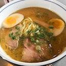 Wabisuke miso ramen 拉面我觉得普通而已,可能我比较喜欢豚骨汤的拉面加上价钱方面😆 .