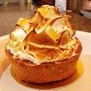Kalamansi meringue tart.