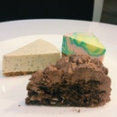 Paddlepop cheesecake, earl grey cheesecake and almond coco.