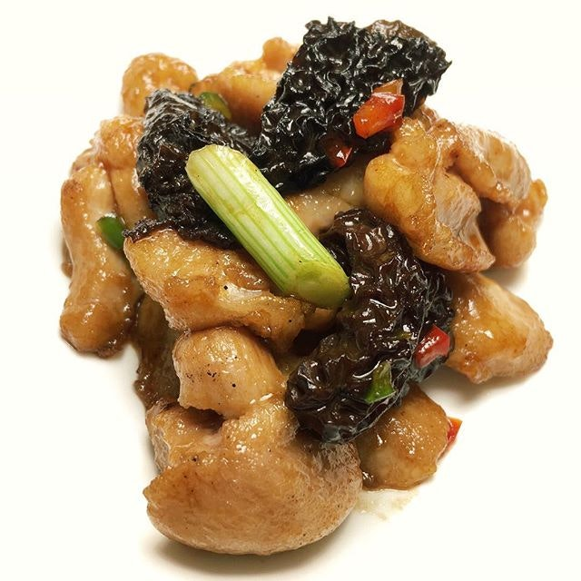 Pan-fried Chicken with Morel in Superior Soy Sauce from Yan Ting at The St.