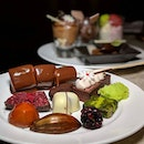The Early Fatback: an assortment of treats from the Chocolate Buffet at The Courtyard, The Fullerton Hotel (@fullertonhotel).