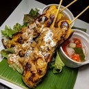 The Early Fatback: Chicken Skewers from Nooka, a modern Thai concept with an appealing price point newly-launched at DUO Galleria.