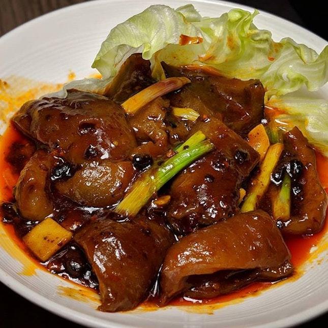 Spicy Sea Cucumber from Si Chuan Dou Hua (@sichuandouhua_sg).