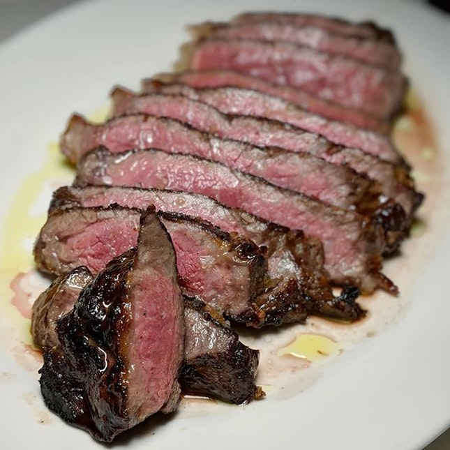 The Early Fatback: Snake River Farms, Grain-fed Wagyu Beef from Culina at COMO Dempsey (@culinacomodempsey).