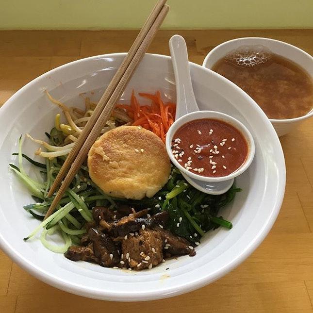Vegetarian Bimbimbap #korean #bimbimbap #vegetarian #healthyeating #cleaneating #meatless #bukitmerah #burpple #burpplesg #below10
