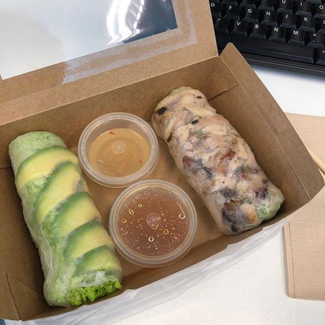 Always feeling hungry today #vietnamese #riceroll #snack #cbd #downtown #marinabaylinkmall #burpplesg #burpple